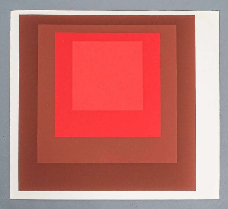 1 of 9 Screen-Prints Serigraph after Josef Albers, 1977 In Good Condition In Vienna, AT