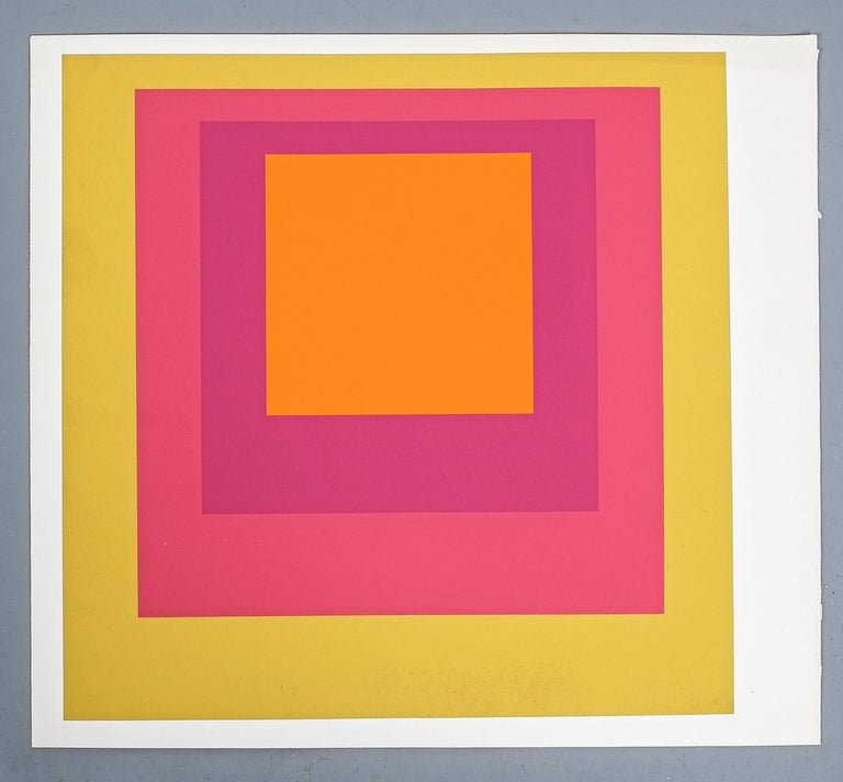 Late 20th Century 1 of 9 Screen-Prints Serigraph after Josef Albers, 1977