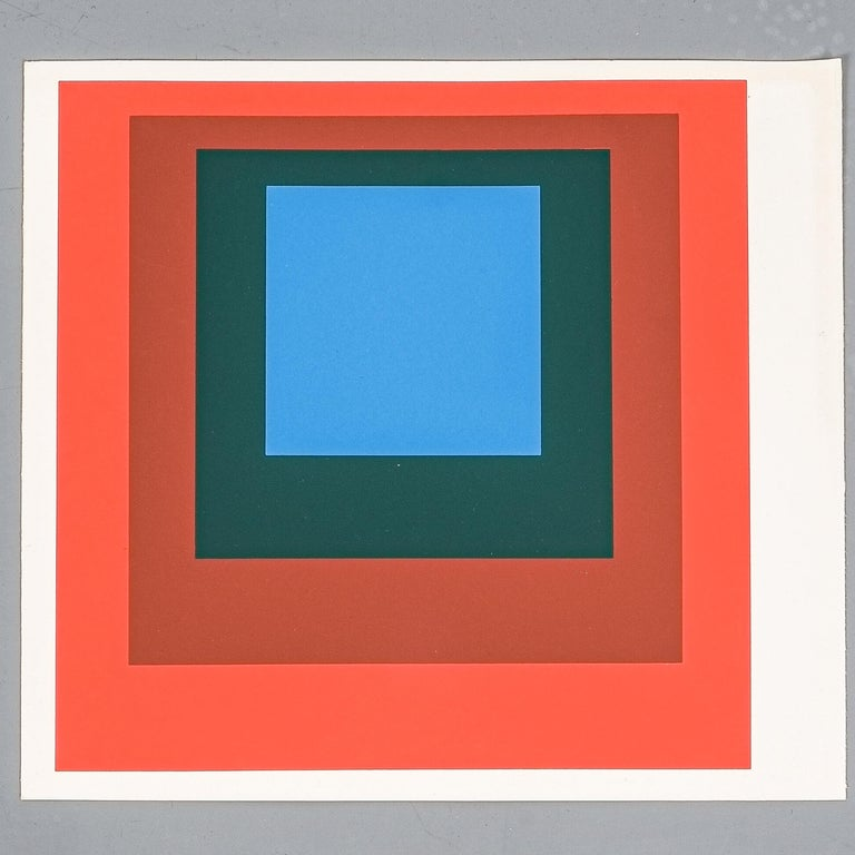 Paper 1 of 9 Screen-Prints Serigraph after Josef Albers, 1977