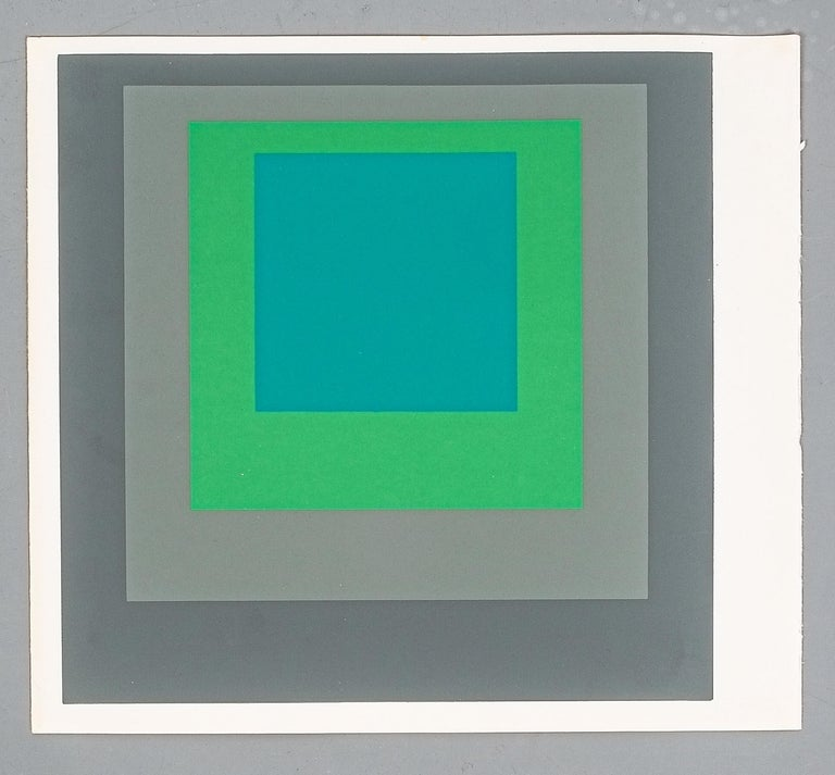 1 of 9 Screen-Prints Serigraph after Josef Albers, 1977 2