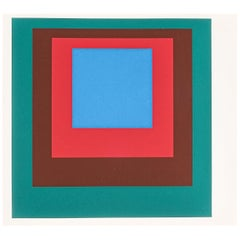1 of 9 Screen-Prints Serigraph after Josef Albers, 1977