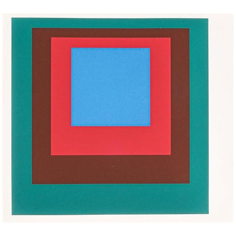 1 of 9 Screen-Prints Serigraph after Josef Albers, 1977