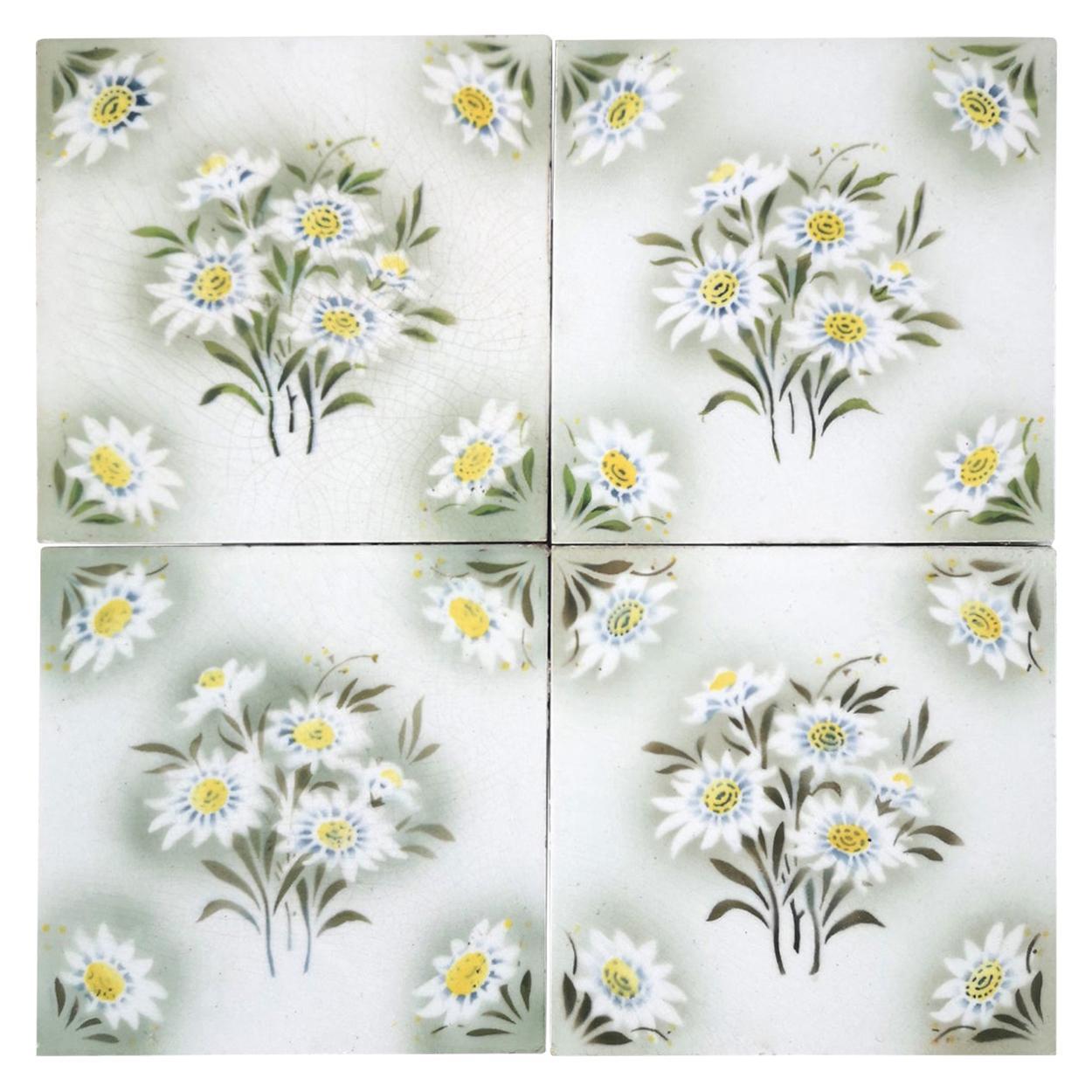 1 of the 100 Antique Ceramic Tiles by Societe Morialme, 1920
