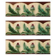 1 of the 100 Unique Antique Relief Tiles , circa 1920 S.A. Pavillions