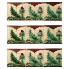 1 of the 100 Unique Antique Relief Tiles, circa 1920 S.A. Pavillions
