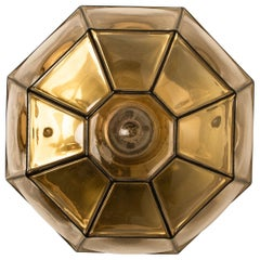 1 of the 11 Clear Glass Flush Mount or Wall Light by Limburg, 1960s