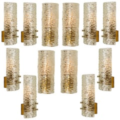 1 of the 12 Handmade Brass and Glass Wall Lights or Sconces by J.T. Kalmar