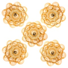 1 of the 12 Helena Tynell Amber Bubble Flushmounts or Wall Sconces, 1960s
