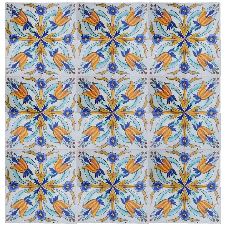 Glazed 1 of the 144 Handmade Antique Ceramic Iles by Devres, France, 1910s
