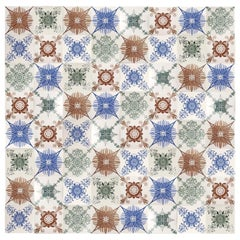 1 of the 154 Unique Antique Tiles, Hendriksem, circa 1920