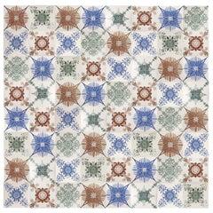 1 of the 154 Unique Antique Tiles, Hendriksem, circa 1940
