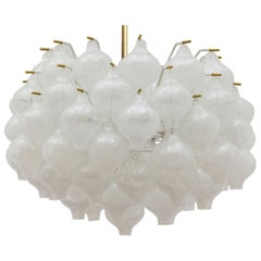 1 of the 2 Exceptional Large Kalmar 'Tulipan' Light Fixtures, 1960s