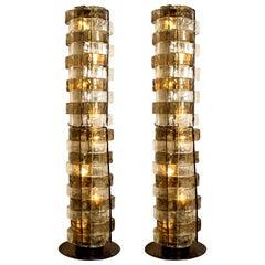 1 of the 2 Floor Lamps by Carlo Nason, Italy, circa 1969