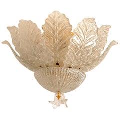 1 of the 2 Flushmounts Murano Glass Barovier & Toso, Italy