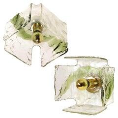 1 of the 2 Green Hand Blown Flushmounts, Sconces from J.T. Kalmar, for Sasha