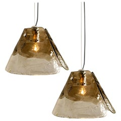 1 of the 2 Pendant Lamps by Carlo Nason for Mazzega