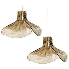 1 of the 2 Pendant Lamps Model LS185 by Carlo Nason for Mazzega