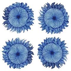 1 of the 24 Handmade Majolica Sunflower Tiles Made in Italy