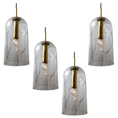 1 of the 3 Glass Pendant Lamps by Doria, 1960