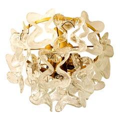 "1 of the 3 Massive J.T. Kalmar ""Catena"" Murano Glass Flushmount Chandeliers"