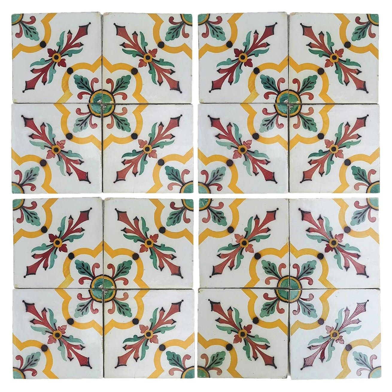 1 of the 350 Handmade Antique Ceramic Tiles by Devres, France, 1920s