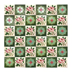 1 of the 36 Mixed Glazed Tiles by S.A. Produits Ceramiques de la Dyle,1930