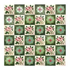 1 of the 36 Mixed Glazed Tiles by S.A. Produits Ceramiques de la Dyle,1930