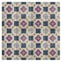 1 of the 36 Unique Antique Relief Tiles, circa 1920, Faiencerie de Bouffioulx