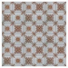 1 of the 36 Unique Antique Tiles, Societe Morialme circa 1920, Belgium