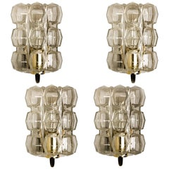 1 of the 4 Glass Wall Lights Sconces by Helena Tynell for Glashütte Limburg 1960