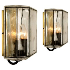 1 of the 4 of Iron and Bubble Glass Sconces Wall Lamps by Limburg, Germany, 1960