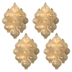 1 of the 4 of Large Tulipan Wall Lamps or Sconces by J.T. Kalmar 'H 21.2', 1960s