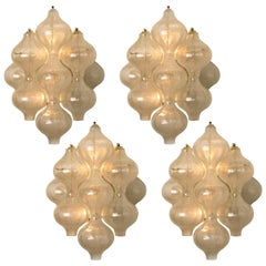 1 of the 4 of Large Tulipan Wall Lamps / Sconces by J.T. Kalmar 'H 21.2', 1960s
