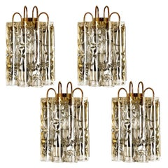 1 of the 4 Tube Murano Wall Sconces, 1960s