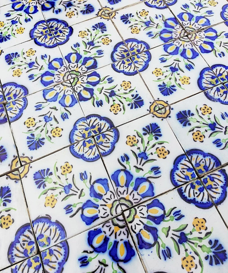 1 of the 410 Handmade Antique Ceramic Tiles by Devres, France, 1910s For Sale 3