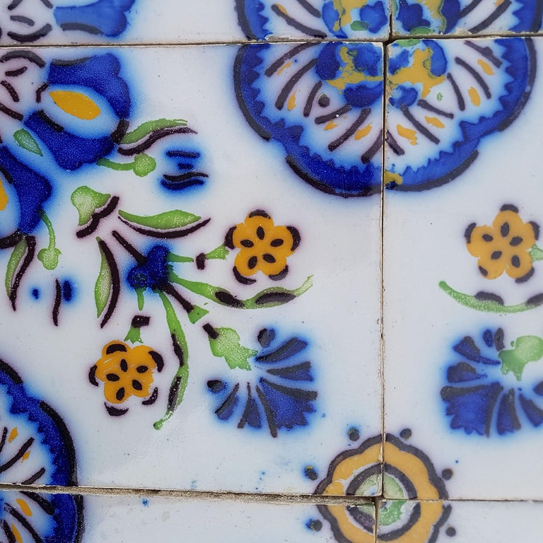 1 of the 410 Handmade Antique Ceramic Tiles by Devres, France, 1910s For Sale 2