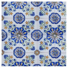 1 of the 410 Handmade Antique Ceramic Tiles by Devres, France, 1910s