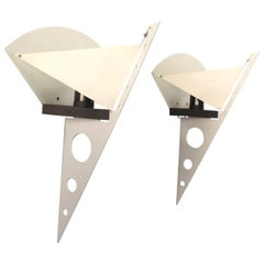 1 of the 5 Pairs Postmodern Filicudara Sconce by S. Lombardi for Artemide, 1980