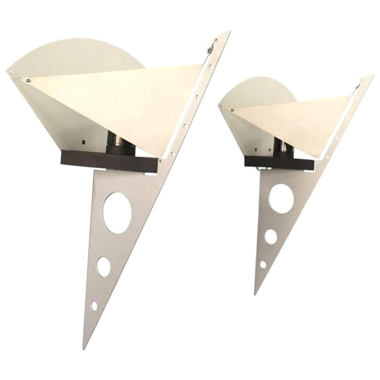 1 of the 5 Pairs Postmodern Filicudara Sconce by S. Lombardi for Artemide, 1980 For Sale