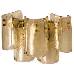 1 of the 5 XL Massive Glass Wall Lamps/Sconces in the Style of Kalmar 'W'