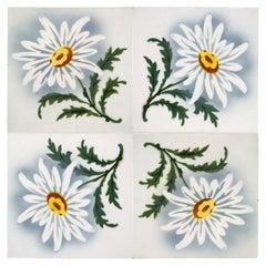 1 of the 50 Antique Ceramic Tiles by Faiencerie de Bouffioulx, 1920