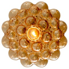 1 of the 6 Amber Bubble Glass Pendant Lamps by Helena Tynell