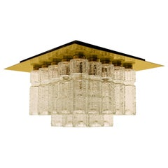 1 of the 6 Flush Mount Chandeliers by Boris Tabacoff, 1970s