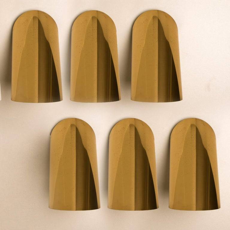 1970s 1 of the 6 Geometrical Rotating Brass Sconces in the Style of Nanda Vigo, 1970 For Sale
