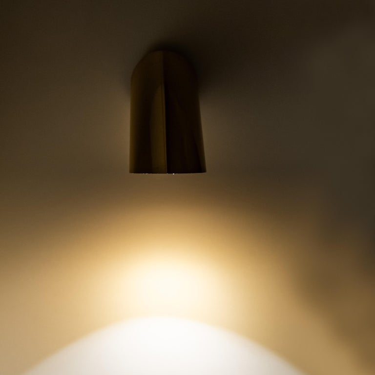 1 of the 6 Geometrical Rotating Brass Sconces in the Style of Nanda Vigo, 1970 For Sale 1
