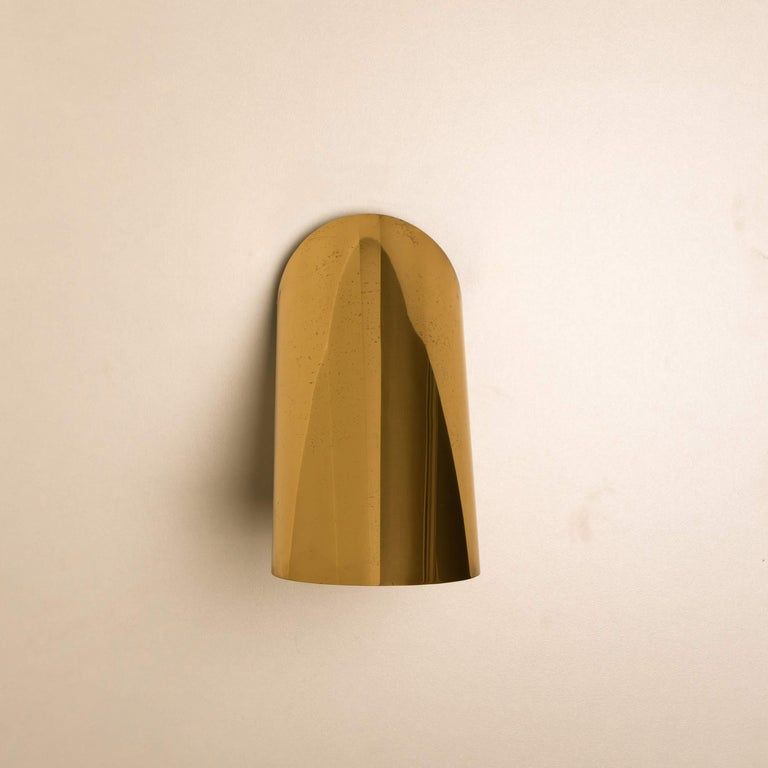 1 of the 6 Geometrical Rotating Brass Sconces in the Style of Nanda Vigo, 1970 For Sale 3