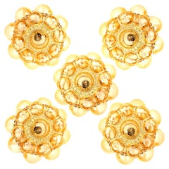 1 of the 6 Helena Tynell Amber Bubble Flushmounts or Wall Sconces, 1960s