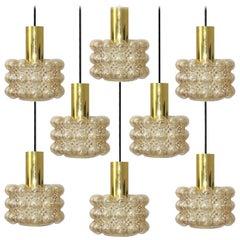 1 of the 8 Beautiful Bubble Glass Pendant Lamps by Helena Tynell, 1960