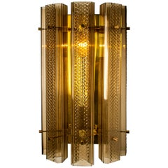 1 of the 8 Extra Large Murano Wall Sconces or Wall Lights Glass and Brass