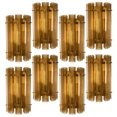 1 of the 8 Extra Large Wall Sconces/Wall Lights Glass and Brass